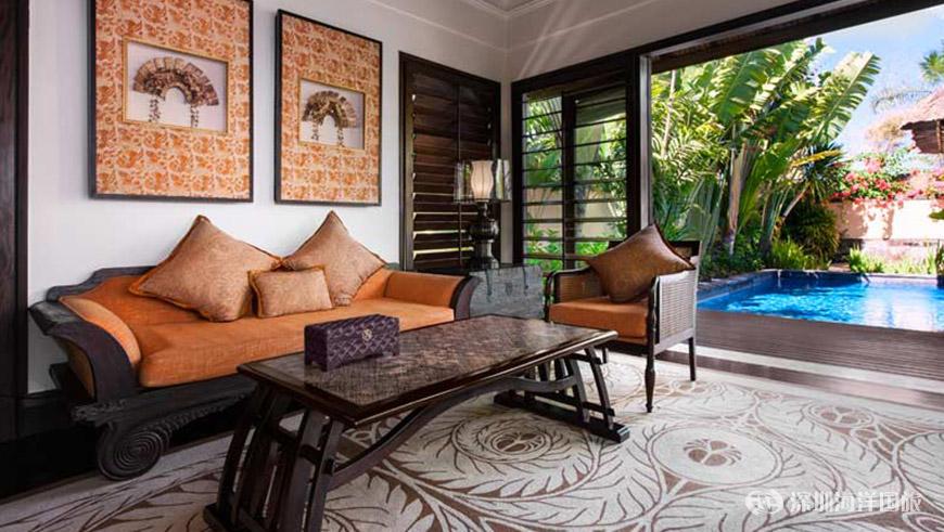 气势恢宏的海滨公寓位于巴厘岛瑞吉度假酒店的迷人海滩之上,可将壮